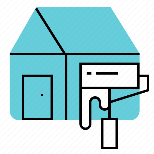 construction, home, paint, renovation icon