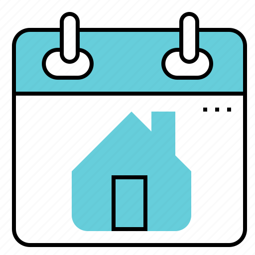 calendar, date, home, housing, plan icon