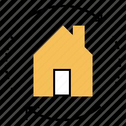 estate, exchange, home, real, renovate, swap icon