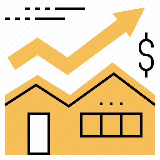 estate, house, market, price, real, stock icon