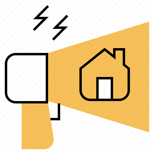 ads, advertise, home, house, marketing icon