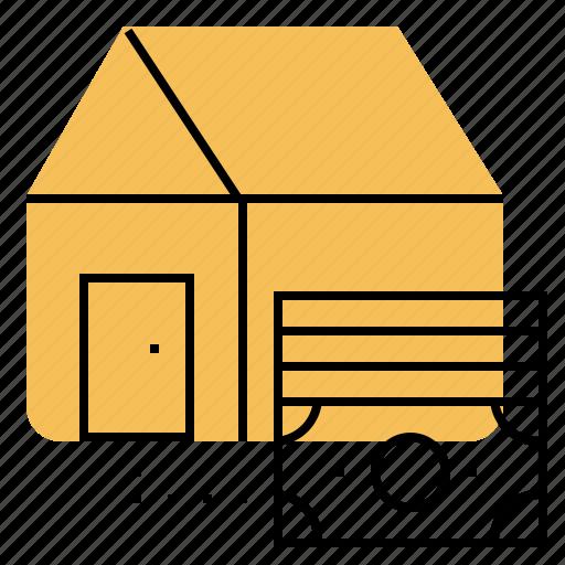 cash, deposit, house, money, price, profit icon