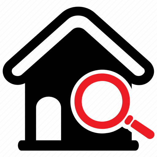 explore, house, magnifier, property, real estate, search icon