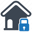 business, construction, fence, lock, mortgage, property protection icon