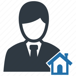 agent, broker, building, home, house, property, real estate icon