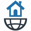 accommodation, global, globe, market, real estate, world, location