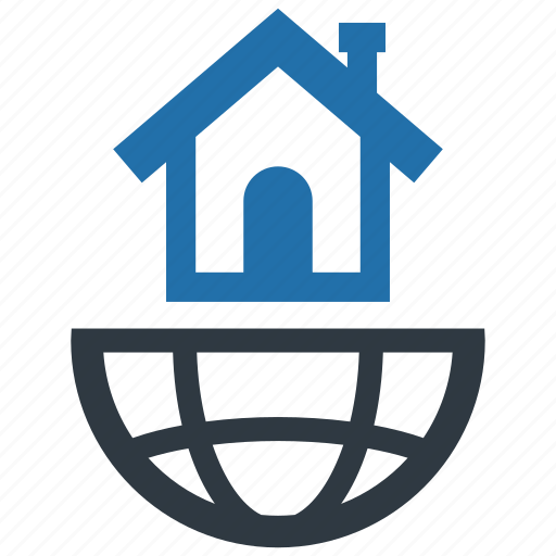 accommodation, global, globe, location, market, real estate, world icon