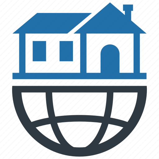 accommodation, apartment, global, network, rent, room, travel icon