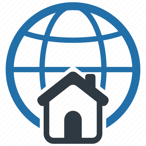 accommodation, apartment, global, internet, network, room, student icon