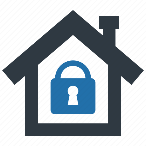 building, estate, home, locked, protection, real, secure icon