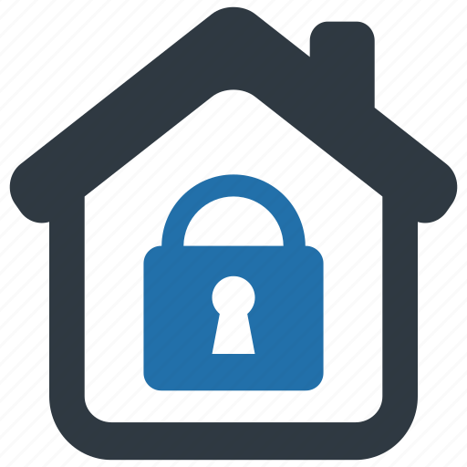 building, home, house, lock, locked, protect, security icon