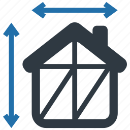 architecture, build, building, construction, dimensions, house, property icon