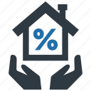 fee, home, house, money, mortage, support, tax icon