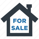 buy, estate, for sale, house, real, sale, sell icon
