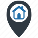 direction, home, house, location, map, navigation, pin icon