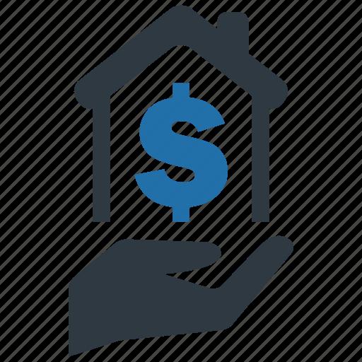 building, discount, home, money, mortage, price, tax icon