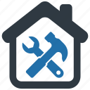 building, construction, estate, fix, house, real, repair icon