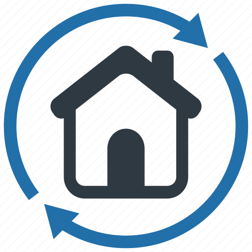 apartment, building, home, house, move out, property, replace icon
