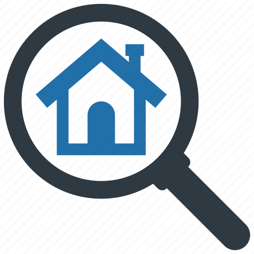 House, search, building, estate, find, home, apartment icon - Download on Iconfinder