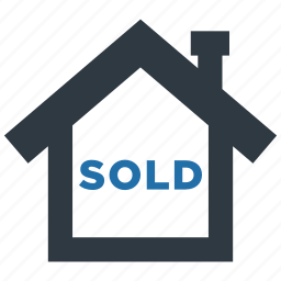 building, estate, home, house, real, sell, sold icon