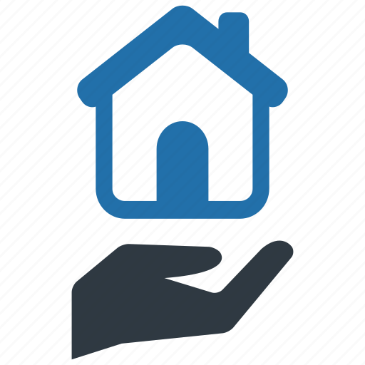 hand, home, house, household, households, insurance, protection icon