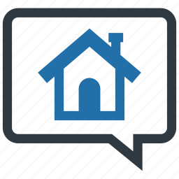 communication, dialogue, discussion, house, housing, loan, price icon