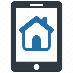 accommodation, building, estate, home, mobile, real, smartphone icon
