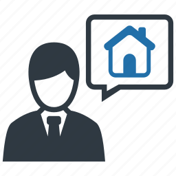 agent, broker, estate, home, house, property, real icon