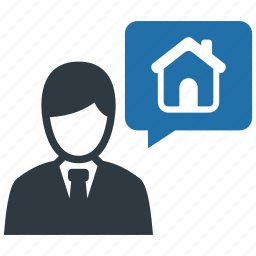 agent, apartment, broker, estate, home, property, real icon