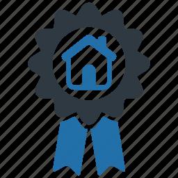 award, estate, home, house, medal, prize, real icon
