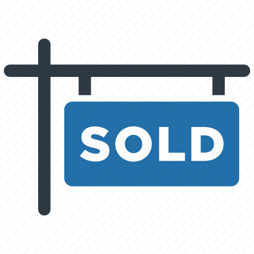 apartment, home, house, property, real estate, sign, sold icon