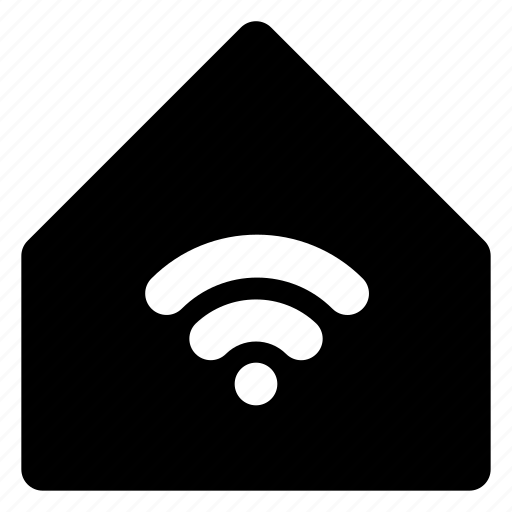 city, estate, home, house, housing, real, wifi icon