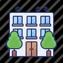 building, estate, office