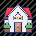 estate, house, new icon