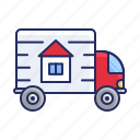 delivery, relocation, truck icon