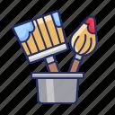 brushes, repairs, tools icon
