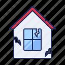 crash, home, house icon