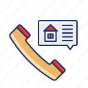 call, phone, real estate