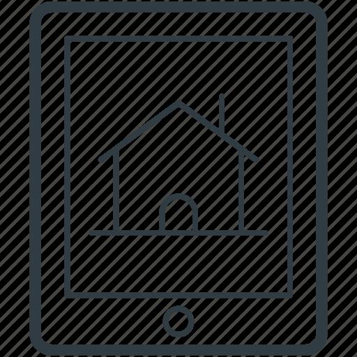 home, mobile screen, online mortgage, online navigation, online real estate icon
