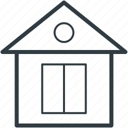 cottage, house, lodge, real estate, shack icon