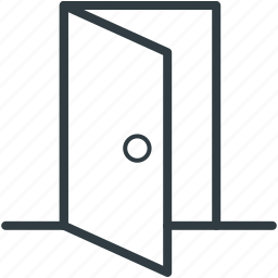 door, doorway, entryway, house door, opened door icon