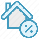 apartment, home, house, percentage, present, property, real estate