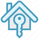 apartment, home, house, house key, key, property, real estate icon