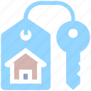 apartment, home, house, house key, key, lock, property, real, real estate icon