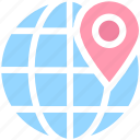 earth, global, globe, gps, localization, location, map, map location, map pin, pin, world location, world map icon