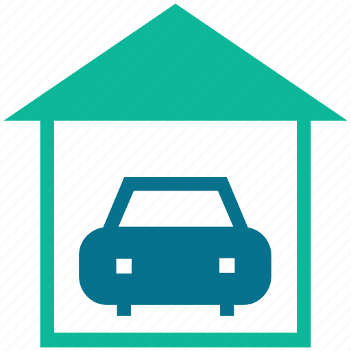 car, garage, home, porch icon