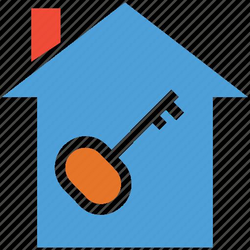 house, key, real estate, safe icon