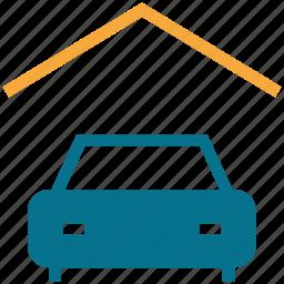 car, garage, house, porch icon