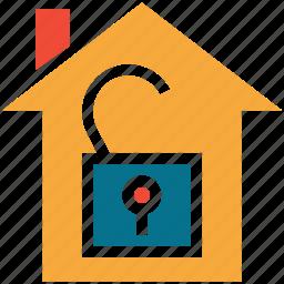 estate, house, real, unlock icon