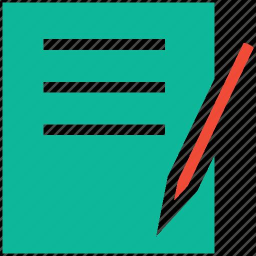 document, documentation, edit, write icon
